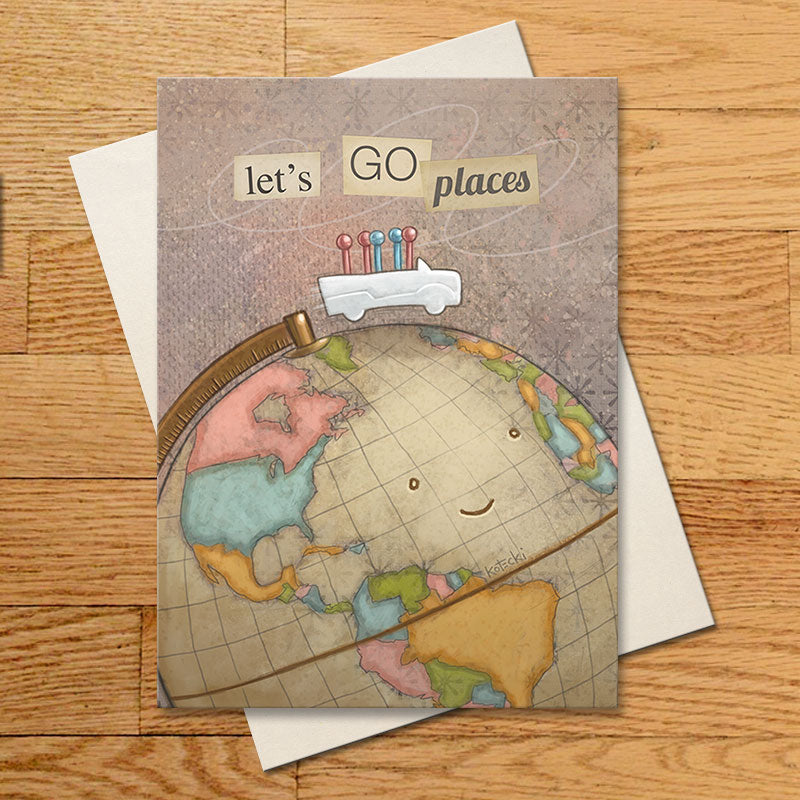 Let's Go Places Greeting Card