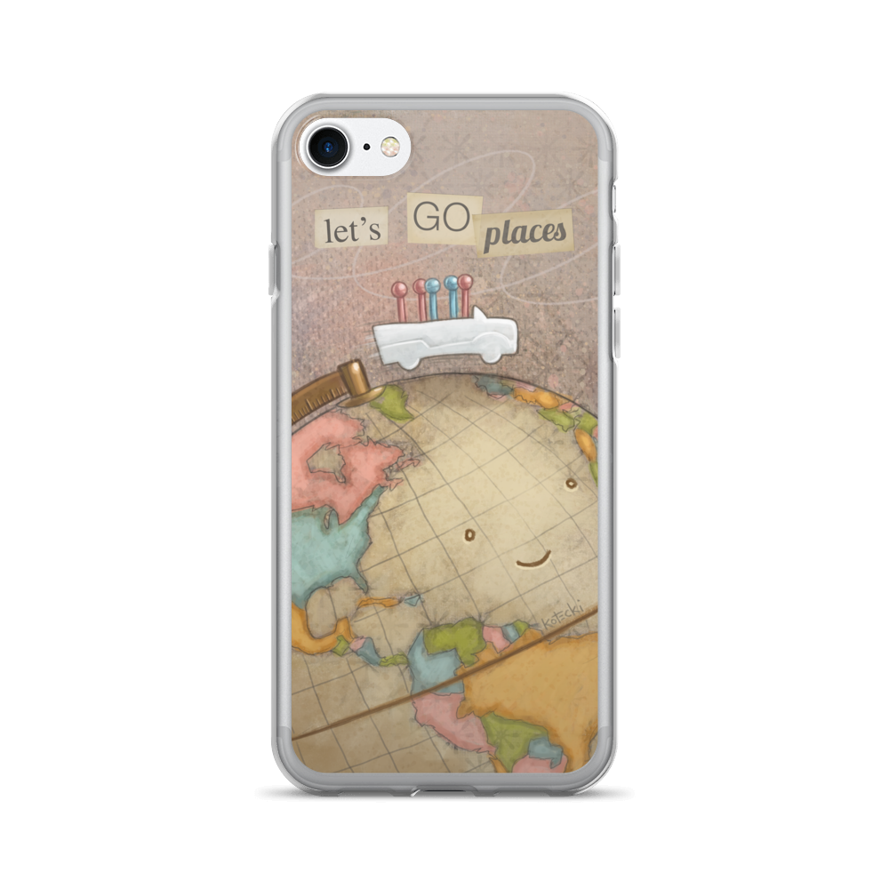 Let's Go Places iPhone Case