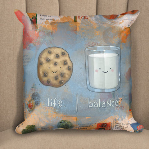 Milk & Cookie Life Balance Pillow
