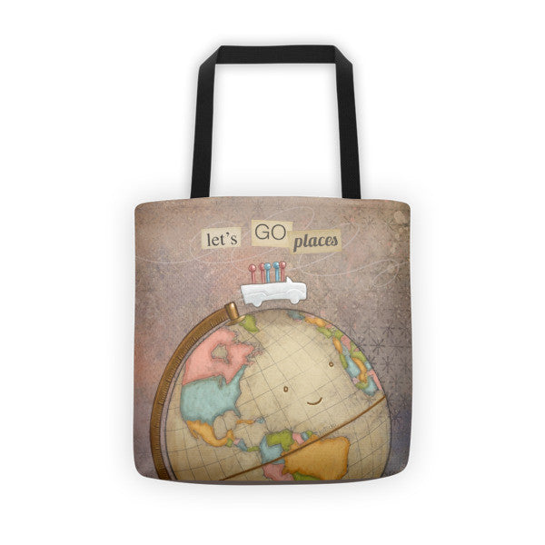 Let's Go Places Tote Bag