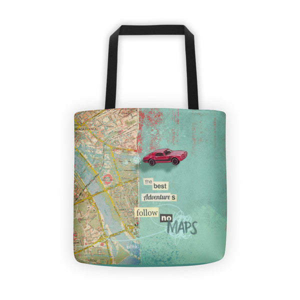 Follow No Maps Tote Bag
