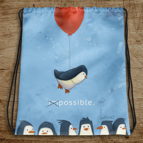 Penguin Possible Drawstring Bag