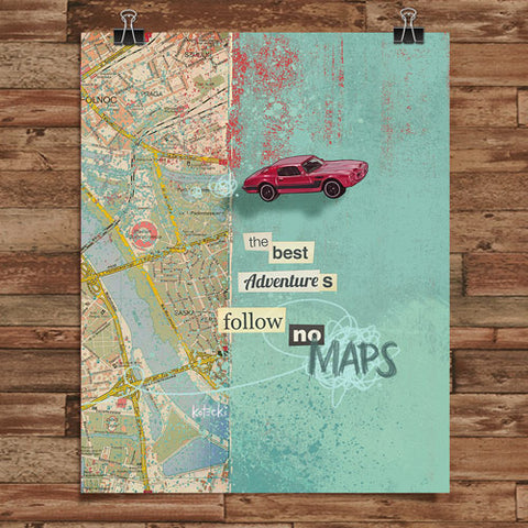 Follow No Maps Print