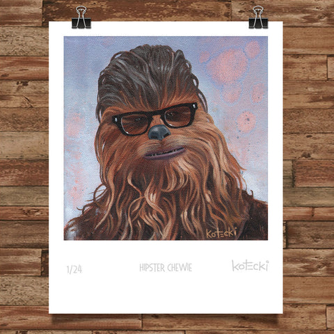 Hipster Chewie Limited Edition Print