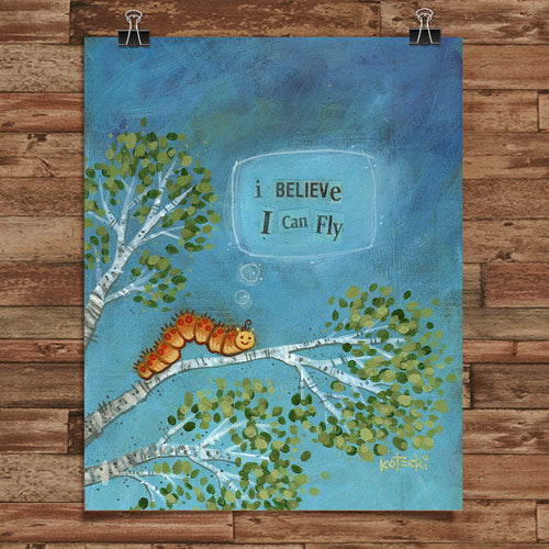 I Believe I Can Fly Print