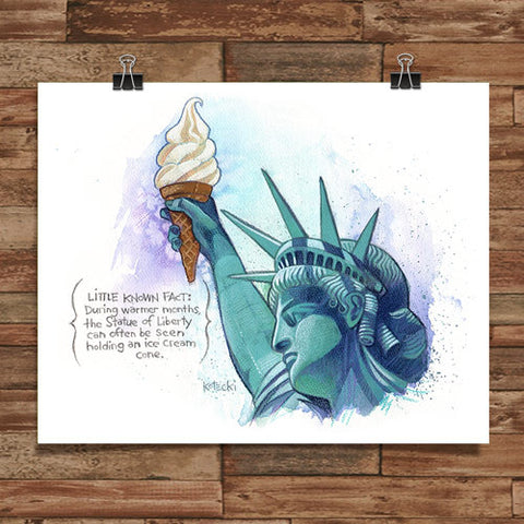 Ice Cream of Liberty Print