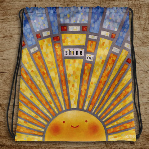 Shine On Stained Glass Drawstring Bag