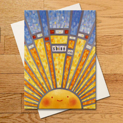 Shine On (Stained Glass) Greeting Card