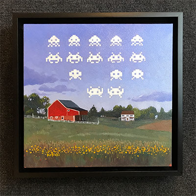 Space Invaders Original Art