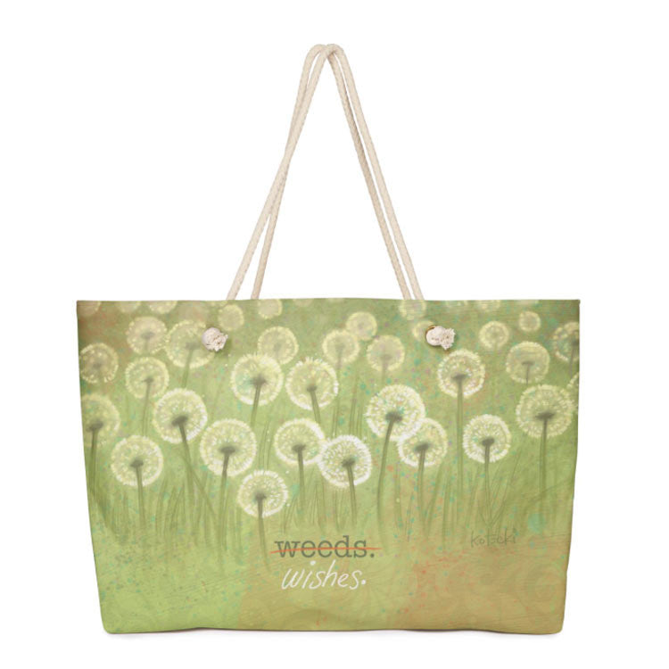Weeds or Wishes Weekender Bag