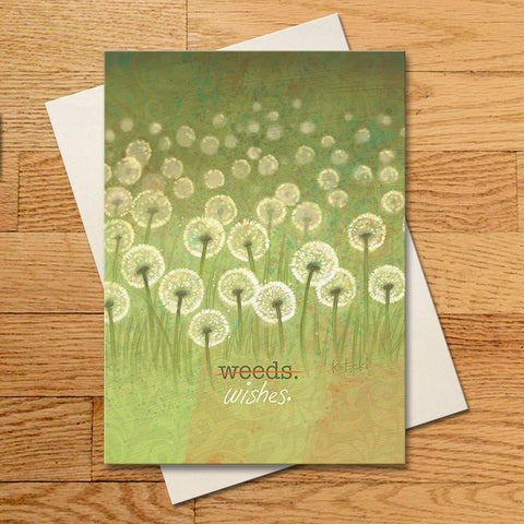Weeds Or Wishes Greeting Card