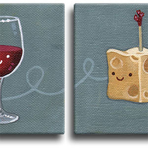 Wine & Cheese Original Art