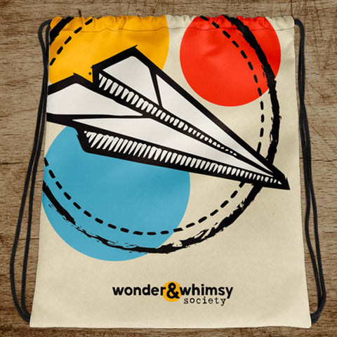 Wonder & Whimsy Society Drawstring Bag
