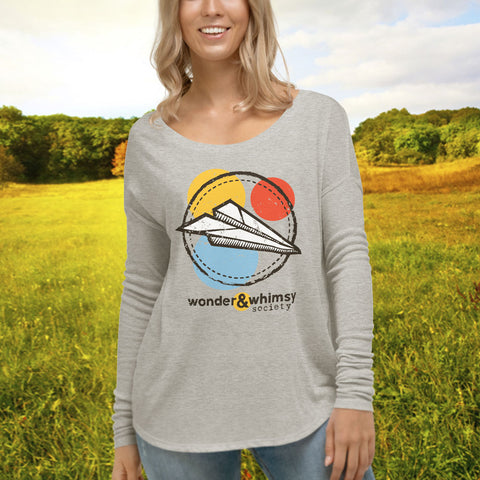 Wonder & Whimsy Society Ladies' Flowy Long Sleeve Tee