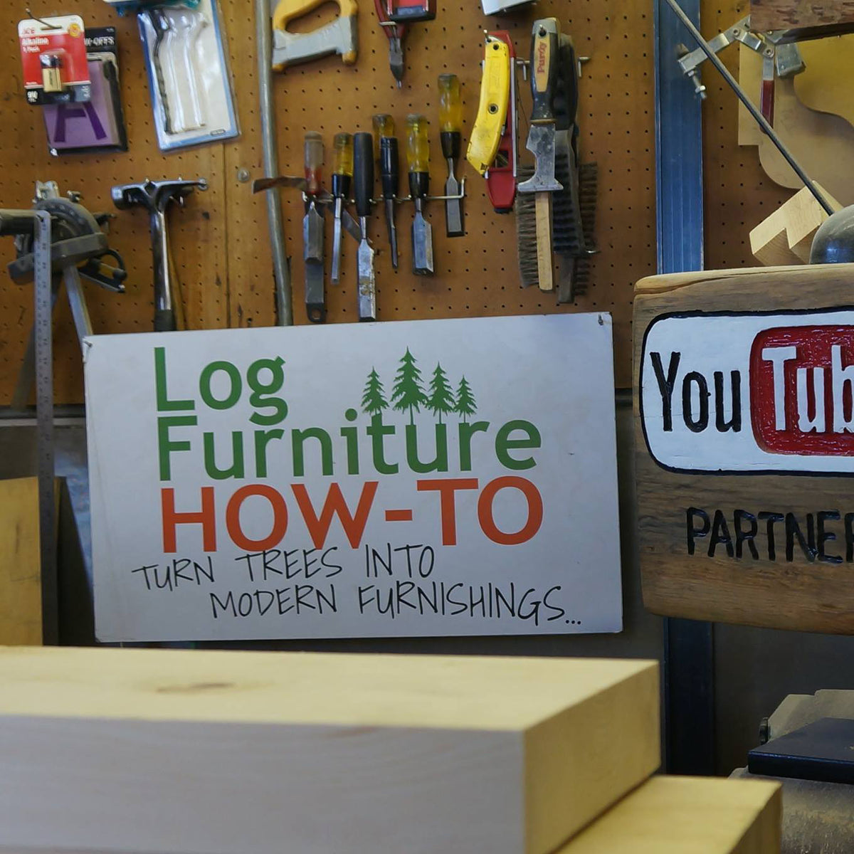 DIY Log Furniture Video Blueprints