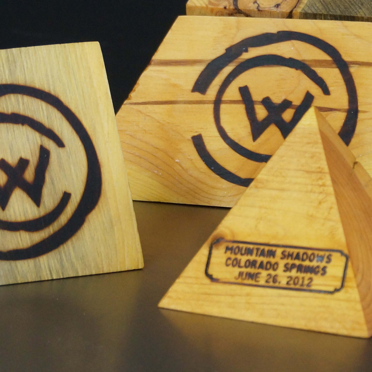 Colorado Wildfire Wood Blocks & Boxes
