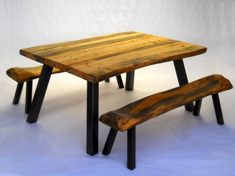 Hand-crafted, Ready-to-Assemble Modern-Rustic Dining Table