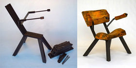 Pre cut diy welding kits mitchell dillman modern rustic club chair kit solutioingenieria Gallery