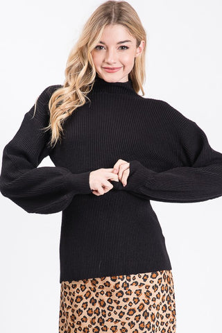 RIB SWEATER -MAS1254