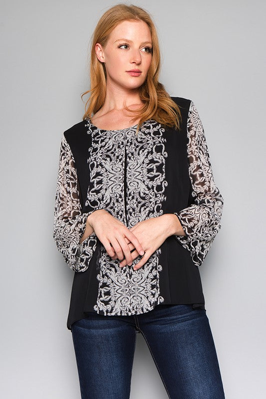 Split Tunic Top-T4001