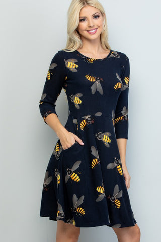 Bee Sweater Dress-LA1914