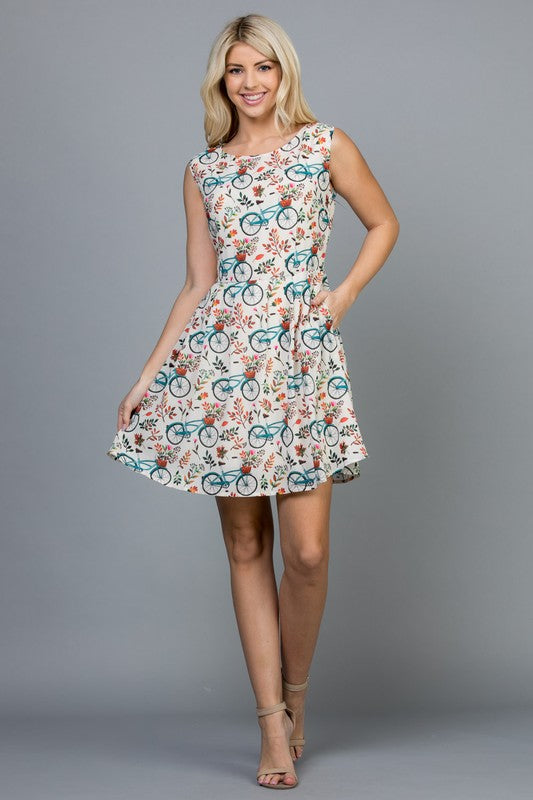 Bike/ Flowers Dress-DR1966