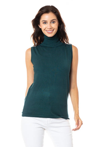 Sleeveless Turtle Neck - 9 Colours