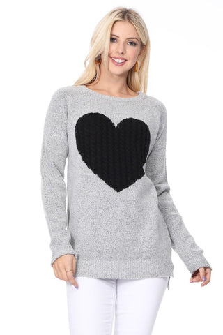 Sweater with classic Heart Design