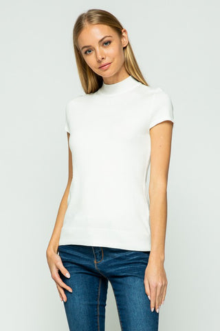 Cap Sleeve Turtle Neck - 9  Colours-SW 225