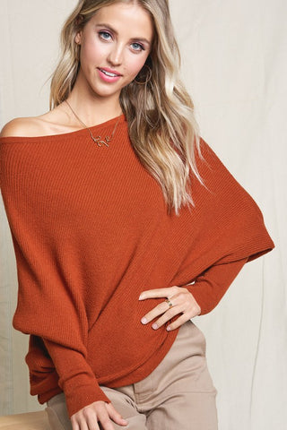 Off Shoulder Knit Tunic-MLS1031-K20