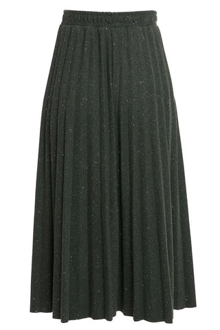 WOVEN TWILL  PLEATED SKIRT-11i-PS2521