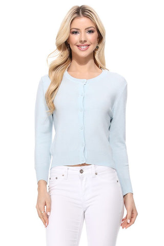 Six Button Cardigan - 13 Colours