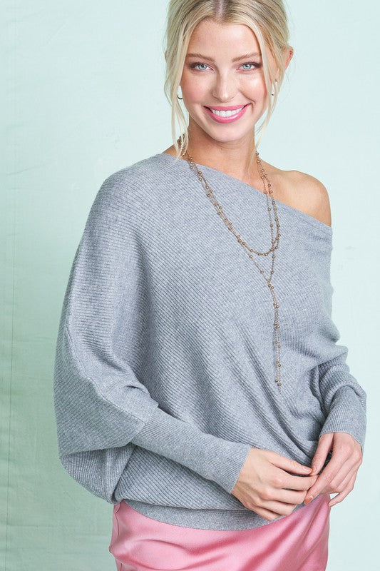 Soft Textured Sweater-LMT3103-B5