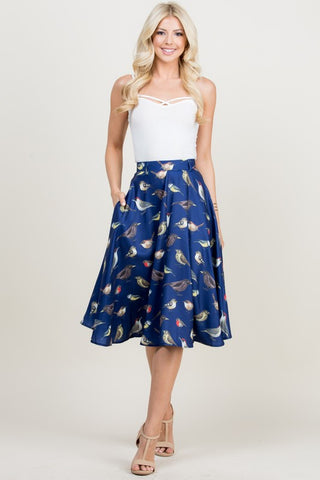 All over Bird Skirt