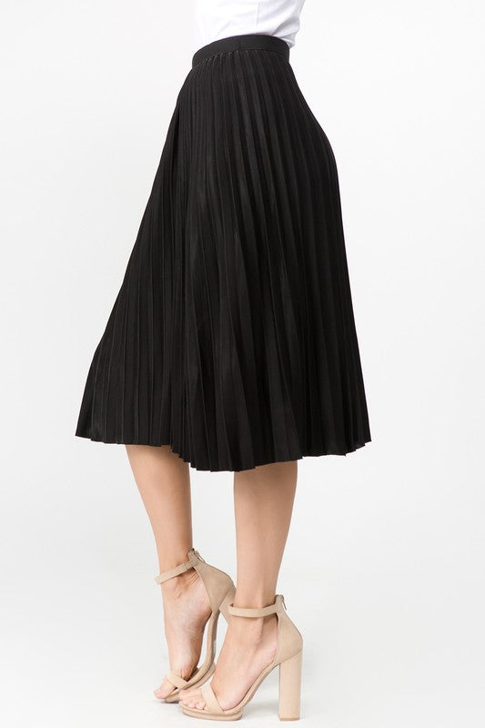 BASIC PLEATED MIDI SKIRT -S51