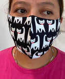 Cat Mask-black and white-11