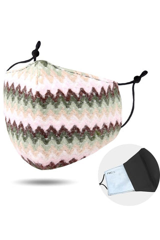 Zigzag Cotton Fashion Mask
