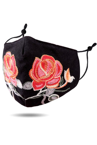 Flower Embroidery Cotton Fashion Mask