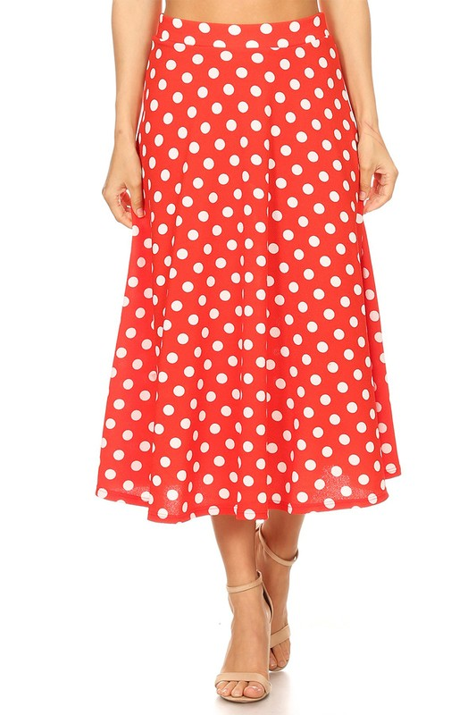Midi skirt with dots