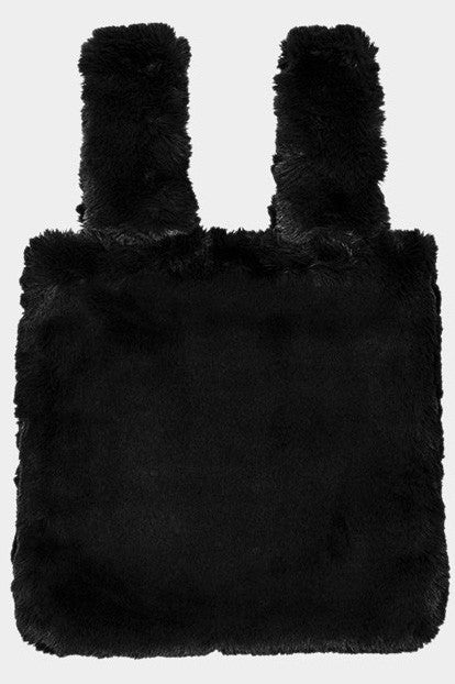 Faux Fur Slouchy Tote Bag-FSB165