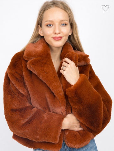 Faux fur Jacket-S5606