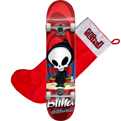 Blind Retro Reaper Complete 7.37 Red w/Stocking - Venue Skateboards