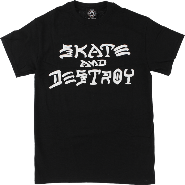 Thrasher Skate & Destroy T-Shirt Black/White - Venue Skateboards
