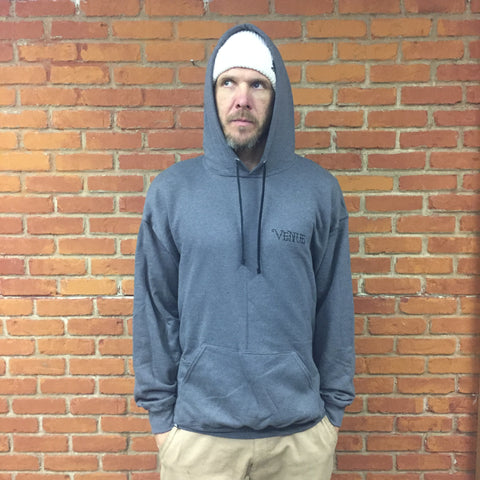 Venue Arrows Hooded Sweatshirt - Grey