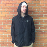 Venue Hooded Zip Windbreaker - Black/Black