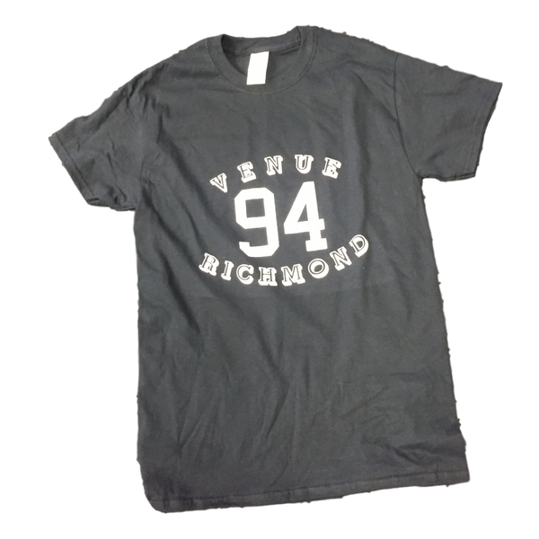 Venue 94 Logo Short  Sleeve T-shirt Black