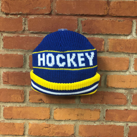 Hockey Skateboards Blue/Yellow Big Beanie