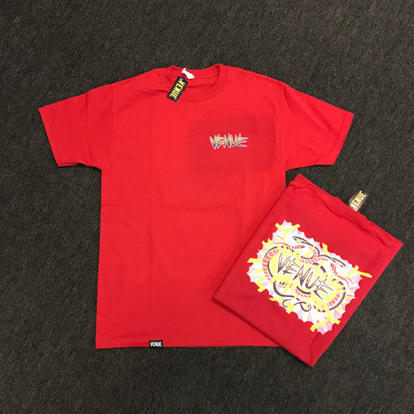 Venue Snake Short Sleeve T-Shirt - Red