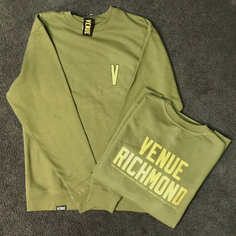 Venue Richmond Crew Sweatshirt Army