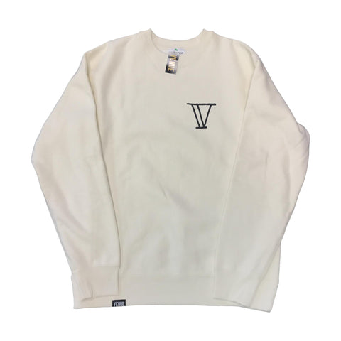 Venue Goat Crew Neck Sweatshirt - Cream